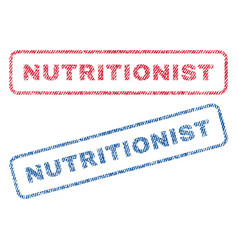 Nutritionist textile stamps vector