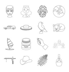 people bottle wineand other web icon in outline vector image