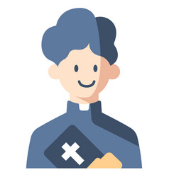 Priest flat vector