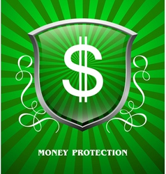 Protection money vector image