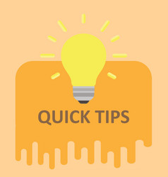 quick tips badge label tag blank design set sign vector image