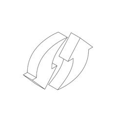Refresh arrow icon isometric 3d style vector image