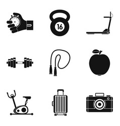 Report icons set simple style vector