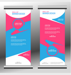 rollup banner 027 vector image