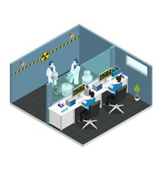 scientific laboratory isometric concept vector image