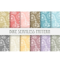set backgrounds bicycle vector image
