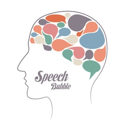 Set of speech bubble thoughts in head vector image