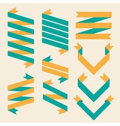 set old ribbon banner eps10 vector image