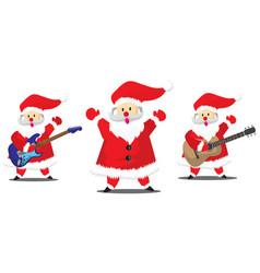 set santa claus christmas collection vector image