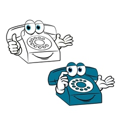 Smiling phone vector image