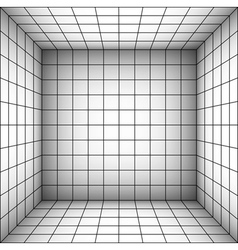 square futuristic room with shaded wall and subdiv vector image