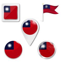 Taiwan flag format vector