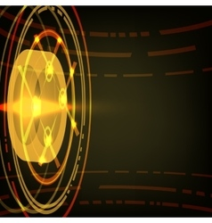 Techno Circle Abstract Background vector