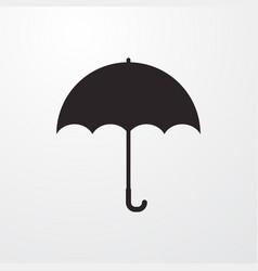 Umbrella sign icon flat design style for w vector