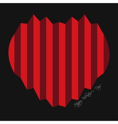 Valentines greeting card - harmonica hearts vector