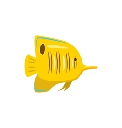 Yellow fish icon cartoon style vector image