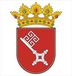Bremen Coat of Arms vector image vector image