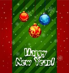 Christmas greeting card christmas balls vector