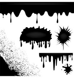 Dark Ink Splatters vector image vector image