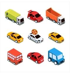 Isometric City Transport Set vector image vector image