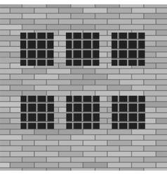 Prison Grey Brick Wall vector image