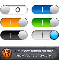 Rounded glossy relays vector image