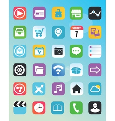 Set of flat icons for design vector image vector image
