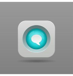 Speech bubble button vector image vector image