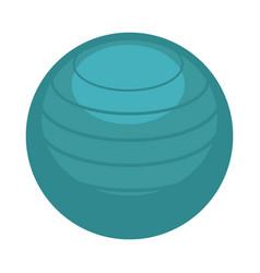 big ball for aerobics vector image
