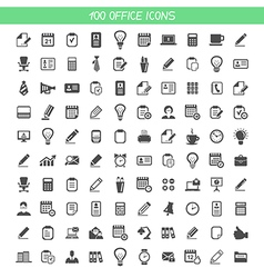 Collection office icons vector image