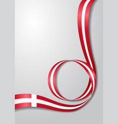 danish flag wavy background vector image vector image