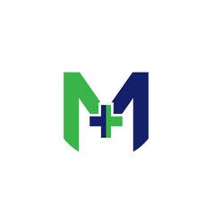 M letter hospital logo vector