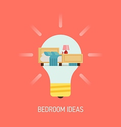 Room Ideas for a Bedroom vector image