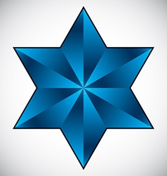 Six point star symbol vector image vector image