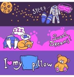 Sleep time banner set vector