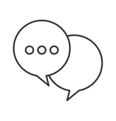 speech bubble chat isolated icon vector image