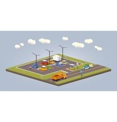 Suburban parking lot vector image