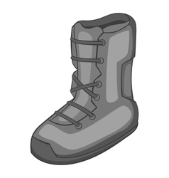 Boot for snowboarding icon gray monochrome style vector image