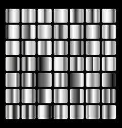 collection metallic and silver gradient vector image vector image
