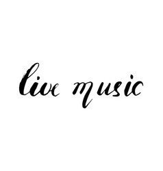 live music lettering composition vector image