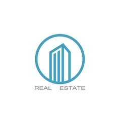 real estate logo designs for business vector image vector image