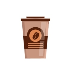 Take Away Coffee In Paper Cup Isolated Icon vector image