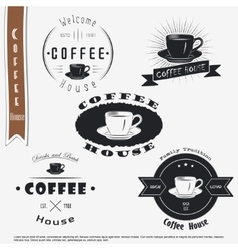 Coffee house The food and service Set of vector image vector image