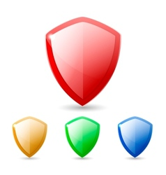 Colored Shields vector image