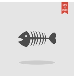 Fish skeleton Flat vector image vector image