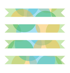 set collection of colorful layered ribbons vector image