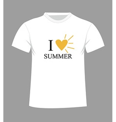 T-shirt template front and back vector