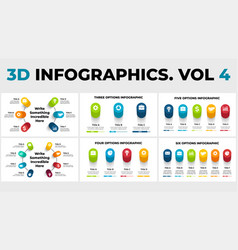 3d perspective infographics pack cycle vector image