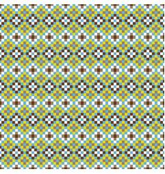 African geometric seamless pattern pixel art vector