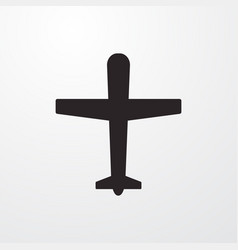 Airplane sign icon flat design style for w vector